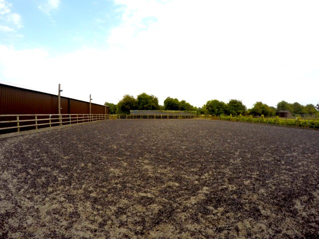 Huge floodlit outdoor arena with 20 mrs of clean mirrors